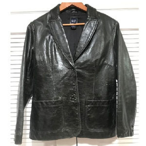 VINTAGE: 1990's Black Leather Jacket